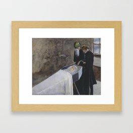 Sir John Everett Millais, Bt 1829–1896   The Artist Attending the Mourning of a Young Girl Framed Art Print