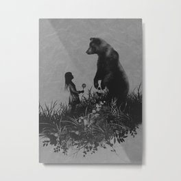The Bear Encounter Metal Print