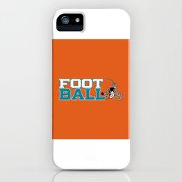 Futbol en Naranja iPhone Case