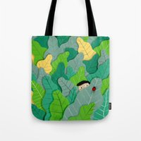 hunting Tote Bags featuring Hunting by Mark Conlan