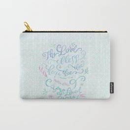 You Are Loved Mom - Number 6:24 - Polka dots Carry-All Pouch