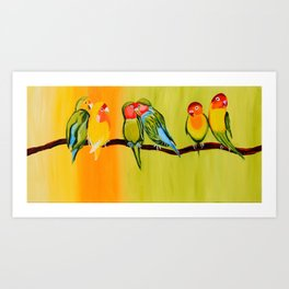 Sweetheart Birds Art Print