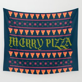 Merry Pizza Wall Tapestry