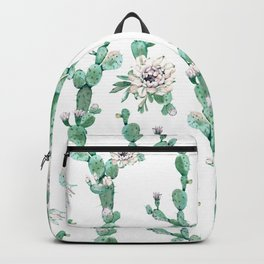 Cactus Rose Climb on White Backpack