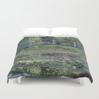 monet Duvet Covers featuring Monet by Palazzo Art Gallery