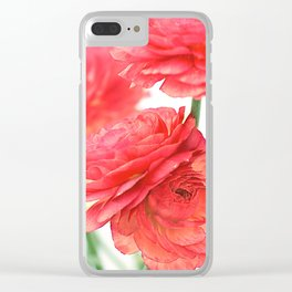 Vintage Ranunculus (10) Clear iPhone Case