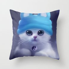 Yang The Cat Throw Pillow