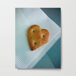Heart Cookie  Metal Print