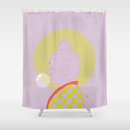 Buddha : Concentrate on the Void! (PopArtVersion) Shower Curtain