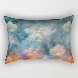"""Only in heaven, a sea of clouds"" Rectangular Pillow"