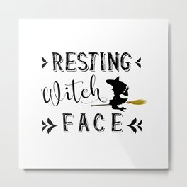 Resting Witch Face Metal Print