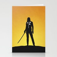 kill bill Stationery Cards featuring Kill Bill by Nick Kemp