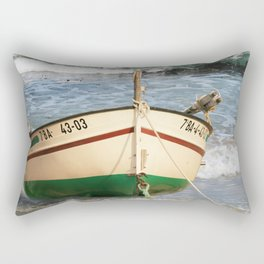 The fishing boat on the beach Rectangular Pillow