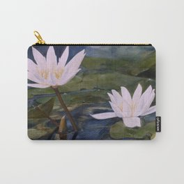 Watercolor Flower Water Lily Landscape Nature Carry-All Pouch