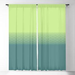 Lime green to dark green gradient boundary spectrum Blackout Curtain