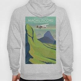 machu picchu travel poster Hoody