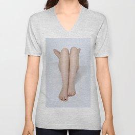 2197-PDJ Legs of a Nude Woman Tasteful Art Unisex V-Neck