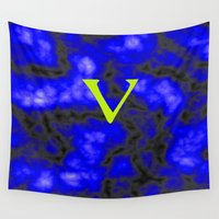 vegan Wall Tapestries featuring Vegan blue by Ars Infinity - @ Roland Zulehner