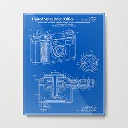 Camera Patent - Blueprint Metal Print