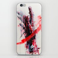 courage iPhone & iPod Skins featuring Courage by dairo vargas