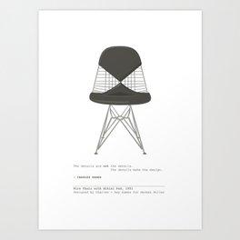 Eames Bikini Chair Art Print