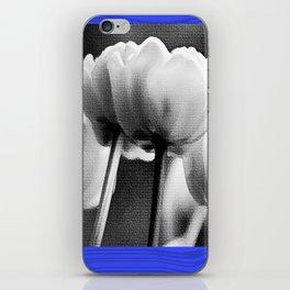 tulips in blue iPhone Skin