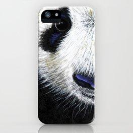 Panda Bear ' PANDA ' by Shirley MacArthur iPhone Case
