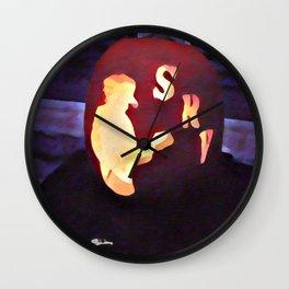 Texas Blues Halloween Wall Clock