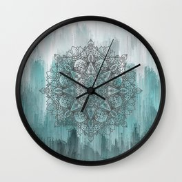 Blue Abstract Mandala Wall Clock