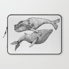 A Couple Of Whales  by Michelle Scott of dotsofpaint studios Laptop Sleeve