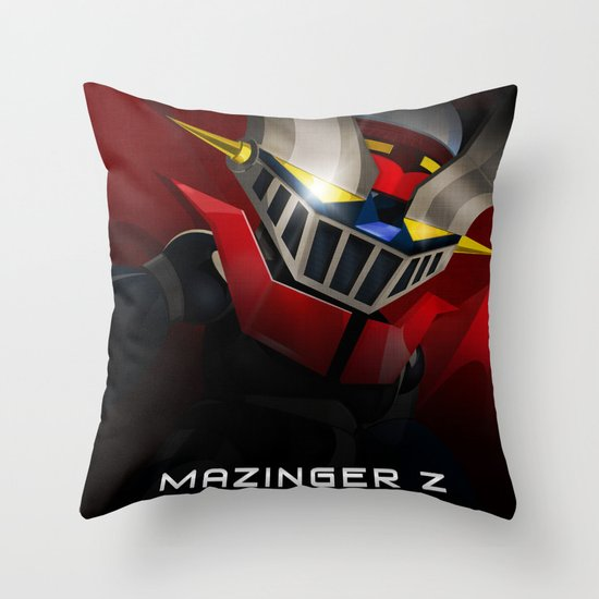 mazinger fan art Throw Pillow