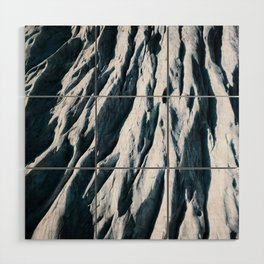 Arctic Glacial Pattern from above - Landscape Photography Wood Wall Art