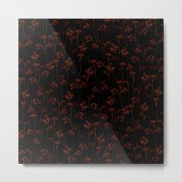 Red Flower Field Metal Print