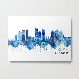 Dhaka Bangladesh Skyline Blue Metal Print
