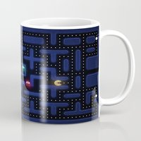 pacman Mugs featuring Pacman by Foxxya