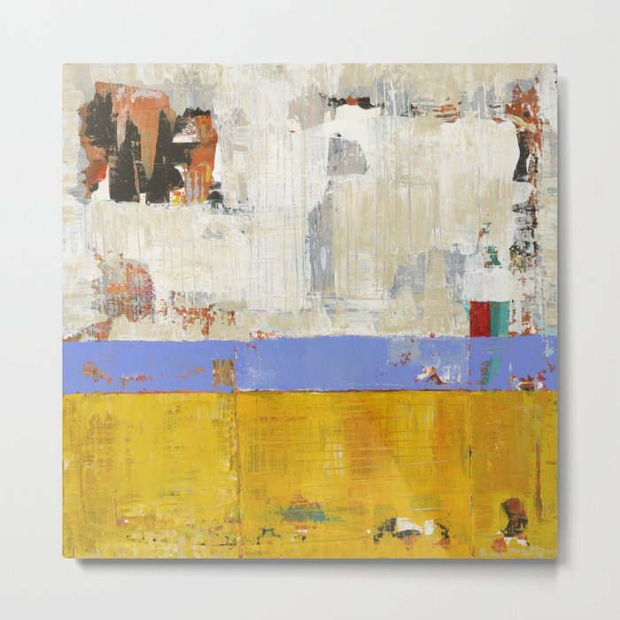 Amenity Abstract Landscape Yellow Modern Shawn McNulty Metal Print