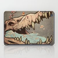 animal skull iPad Cases featuring Animal Skull and birds by Paula Belle Flores
