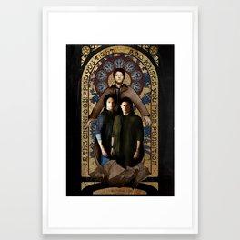 SUPERNATURAL gold medieval icon Framed Art Print