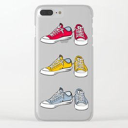 Red Sneakers Clear iPhone Case