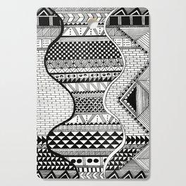 Wavy Geometric Patterns Cutting Board