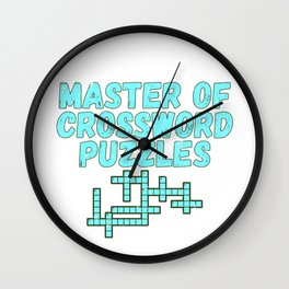 Puzzler Gift Master of Crossword Puzzles Wall Clock