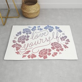 Love yourself color Rug
