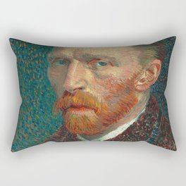 Vincent van Gogh - Self-Portrait, 1887 Rectangular Pillow