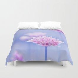 Allium pink macro 087 Duvet Cover