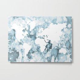 Design 103 World Map Metal Print