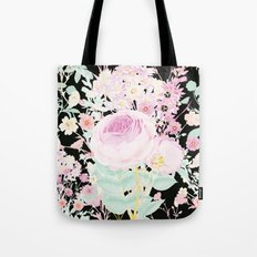 Flower Bouquet in Black Tote Bag