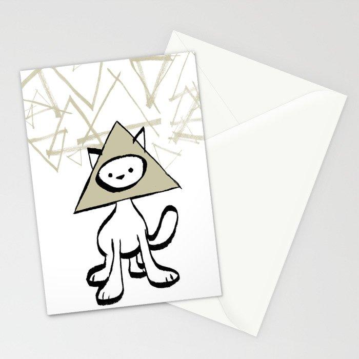 minima - pyramid cat Stationery Cards