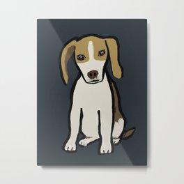 A Beagle named Bagel Metal Print