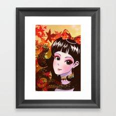 Autumn Maiden Framed Art Print