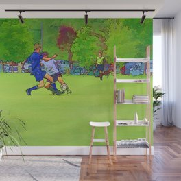 The Big Steal - Soccer Players Wall Mural